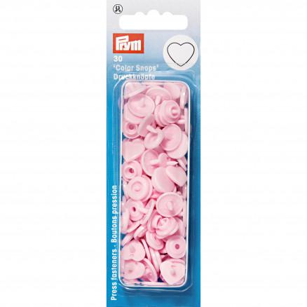Image of   Prym Color Snaps Trykknapper Plast Hjerte Rosa - 30 stk