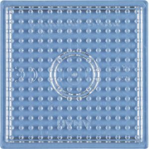 Hama Midi Perleplade Firkant Lille Transparent 7,5x7,5cm - 1 stk