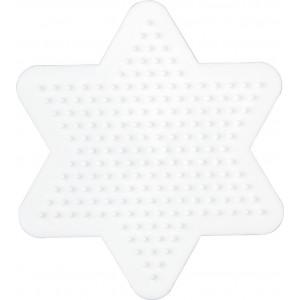 Hama Perleplade Stjerne Lille Hvid - 1 stk