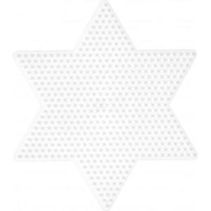 Hama Perleplade Stjerne Stor Hvid - 1 stk