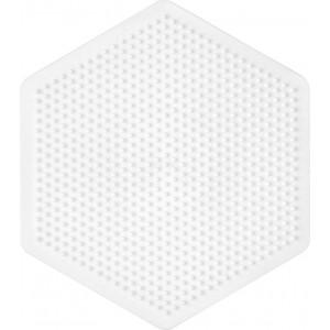 Hama Perleplade Sekskant Stor Hvid - 1 stk