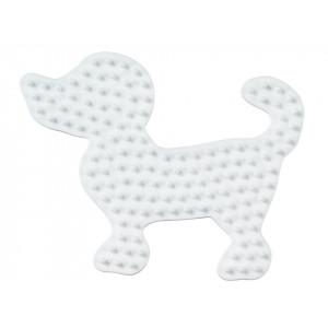 Hama Perleplade Hund Lille Hvid - 1 stk
