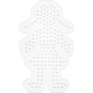 Hama Perleplade Pige Hvid - 1 stk