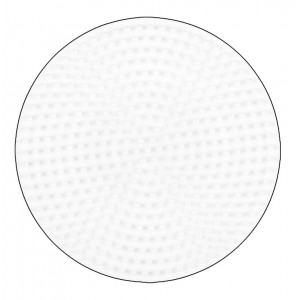 Hama Midi Perleplade Rund Mellem Hvid 12cm - 1 stk