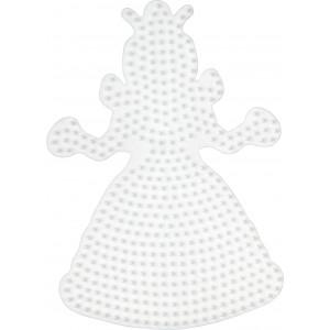 Hama Perleplade Prinsesse Stor Hvid - 1 stk