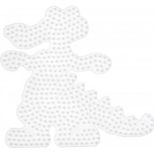 Hama Perleplade Krokodille Hvid - 1 stk