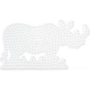 Hama Perleplade Næsehorn Hvid - 1 stk
