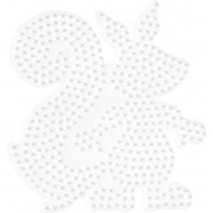 Hama Perleplade Egern Hvid - 1 stk