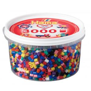Hama Midi Perler Mix 00 Bøtte m. 3000 stk