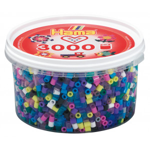 Hama Midi Perler 210-69 Mix 69 Bøtte m. 3000 stk