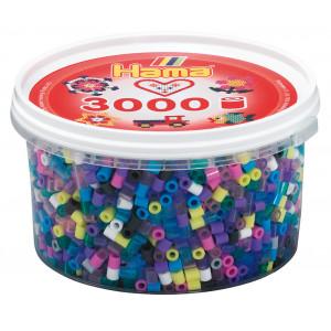 Hama Midi Perler Mix 69 Bøtte m. 11 Ass. farver - 3000 stk