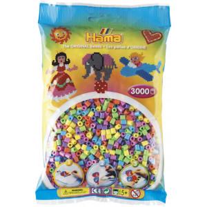 Hama Midi Perler Pastel Mix 50 - 3000 stk