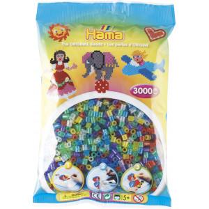 Hama Midi Perler Transparent Glitter Mix 54 - 3000 stk