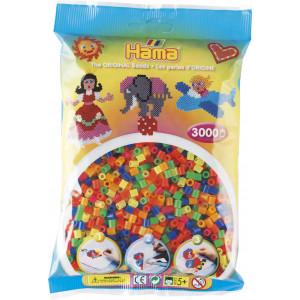Hama Midi Perler Neon Mix 51 - 3000 stk