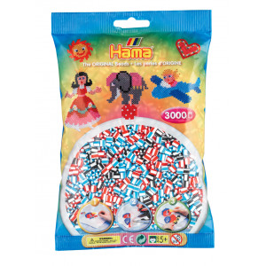 Hama Midi Perler Stribet Mix 91 - 3000 stk