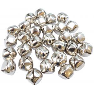 Infinity Hearts Bjælde / Rasleklokke 30mm Sølv - 30 stk