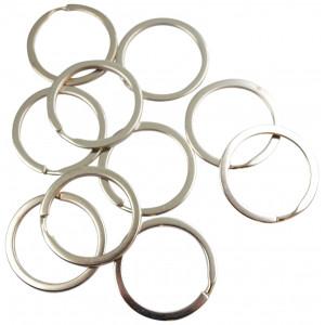 Image of   Infinity Hearts Nøglering Sølvfarvet 30mm - 10 stk