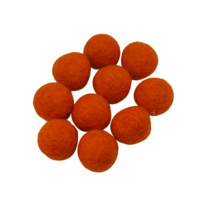 Filtkugler 10mm Orange R7 - 10 stk