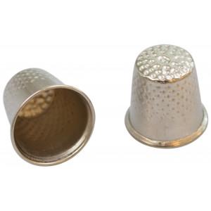 Infinity Hearts Fingerbøl Sølvfarvet 15mm - 2 stk