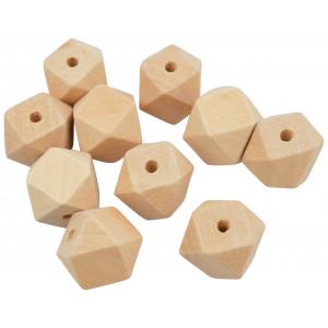 Infinity Hearts Træperler Geometriske 20 mm - 10 stk
