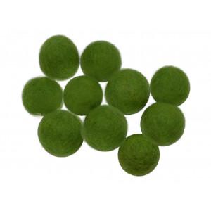 Diverse Filtkugler 10mm grøn gn4  - 10 stk fra rito.dk