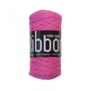 Mayflower Ribbon Stofgarn Unicolor 121 Lys Pink