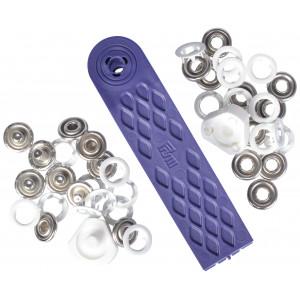 Prym Jersey Trykknapper Ring Hvid 10mm - 10 stk