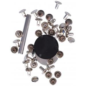 Prym Hulnitter Sølv 7,5mm til 3-4mm tykkelse - 20 stk