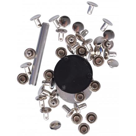 Image of   Prym Hulnitter Sølv 7,5mm til 3-4mm tykkelse - 20 stk