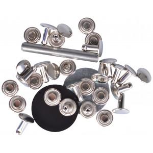 Prym Hulnitter Sølv 9mm til 4-6mm tykkelse - 15 stk