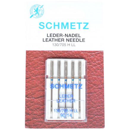 Image of   Schmetz Symaskinnåle Læder 90 - 5 stk