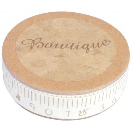 Image of   Boutique Bånd Håndskrevet Målebånd 5m 15mm