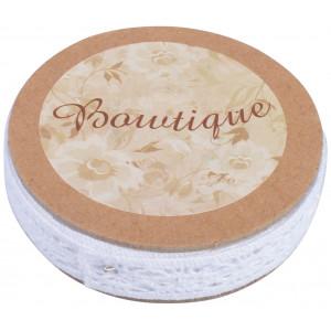 Boutique – Boutique blondebånd hvid 5m 12mm fra rito.dk