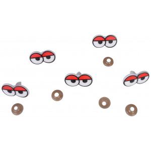 Infinity Hearts Sikkerhedsøjne / Amigurumi øjne med øjenlåg 17x31mm - 5 sæt