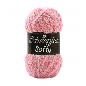 Scheepjes Softy Garn Unicolor 483 Lys Rosa