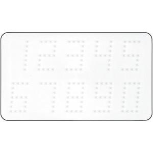Hama Midi Perleplade Tal Hvid 16x9,5cm - 1 stk
