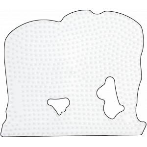 Hama Midi Perleplade Elefant Stor Hvid 16x13,5cm - 1 stk