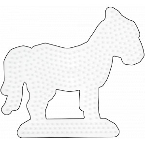 Hama Perleplade Hest Hvid - 1 stk