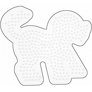 Hama Midi Perleplade Hund Hvid 13,5x12cm - 1 stk