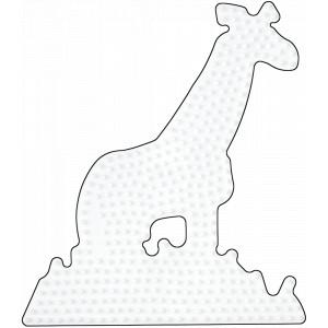 Hama Midi Perleplade Giraf Hvid 16x14cm - 1 stk