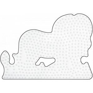Hama Midi Perleplade Løve Hvid 15x11cm - 1 stk