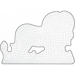 Hama Perleplade Løve Hvid - 1 stk