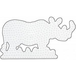 Hama Midi Perleplade Næsehorn Hvid 16x9cm - 1 stk