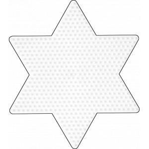 Hama Midi Perleplade Stjerne Stor Hvid 16,5x14,5cm - 1 stk