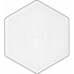 Hama Midi Perleplade Sekskant Stor Hvid 16,5x14,5cm - 1 stk
