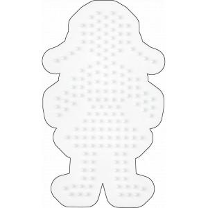 Hama Midi Perleplade Pige Hvid 12,5x7,5cm - 1 stk