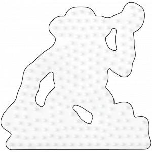 Hama Midi Perleplade Abe Hvid 9x9cm - 1 stk