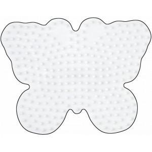 Hama Midi Perleplade Sommerfugl Hvid 10,5x8cm - 1 stk