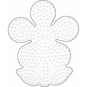 Hama Midi Perleplade Blomst Stor Hvid 12x10cm - 1 stk