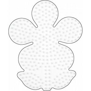 Hama Perleplade Blomst Stor Hvid - 1 stk
